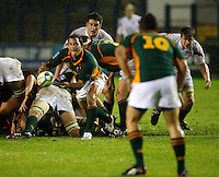 Photo: Richard Lane/Richard Lane Photography. England U20 v South Africa U20. Semi Final. 18/06/2008. South Africa's Francois Hougaard passes.