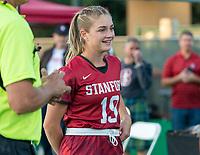 Stanford, California - November 1, 2019: Stanford Field Hockey defeats UC Davis 5-0 at Varsity Field Hockey Turf  in Stanford, California.
