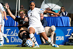03 DEC 2011: Carmelina Puopolo (5) of Saint Rose and Kayla Kimble (3) of GVSU battle for the ball during the Division II Women's Soccer Championship held at the Ashton Brosnaham Soccer Complex in Pensacola, FL.  Saint Rose defeated Grand Valley State 2-1 to win the national title.  Stephen Nowland/NCAA Photos