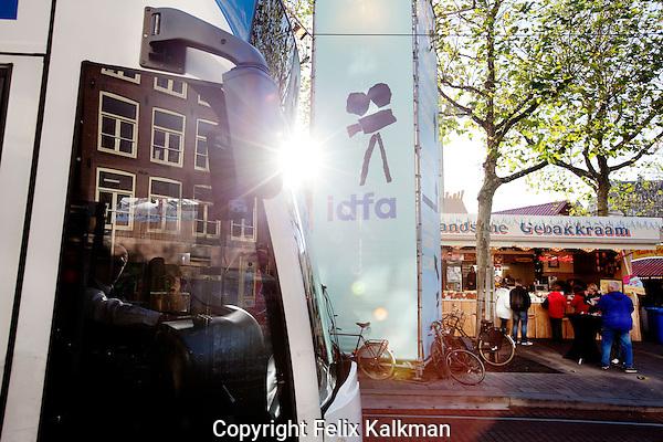 Amsterdam, 24 november 2010.International Documentary Filmfestival Amsterdam IDFA.Rembrandtplein, Rembrandt Square.Photo by Felix Kalkman