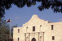 The Alamo or Mission San Antonio Valero in San Antonio, Texas, USA