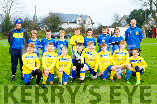 The LB Rovers u11 teams that played Castleisland AFC in Castleisland on Saturday