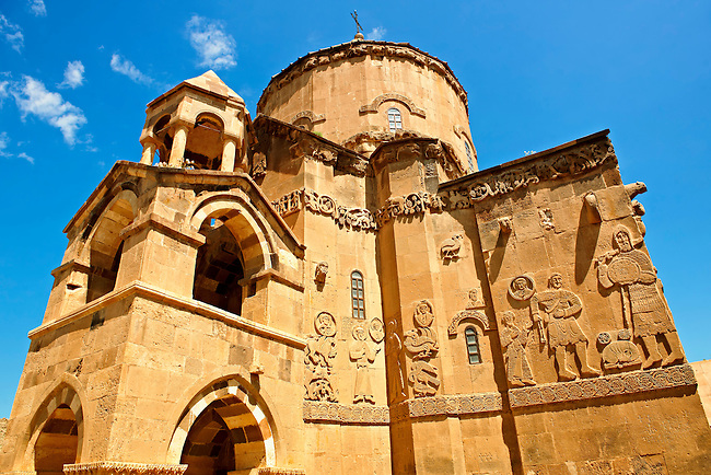 10th century Armenian Orthodox Cathedral of the Holy Cross on Akdamar Island, Lake Van Turkey 75