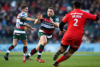 Greg Bateman of Leicester Tigers receives the ball. Gallagher Premiership match, between Leicester Tigers and Saracens on November 25, 2018 at Welford Road in Leicester, England. Photo by: Patrick Khachfe / JMP