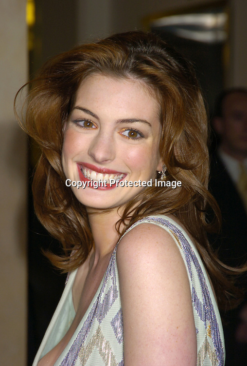 Anne Hathaway ..a benefit for amFAR and ACRIA  honoring Herb Ritts on ..February 2, 2005 at Sotheby's. Noted Contemporary artists..donated major works that were sold to benefit amFAR and ..Aids Community Research Initiative of America. ..Photo by Robin Platzer, Twin Images