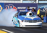 Feb. 22, 2013; Chandler, AZ, USA; NHRA pro stock driver Matt Hartford during qualifying for the Arizona Nationals at Firebird International Raceway. Mandatory Credit: Mark J. Rebilas-