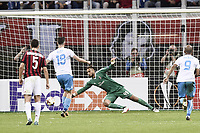 gol Josip Elez Rijeka Goal celebration <br /> Milano 28-09-2017 Stadio Giuseppe Meazza Football Europa League 2017/2018 Group D Milan - Rijeka Foto Image/Insidefoto