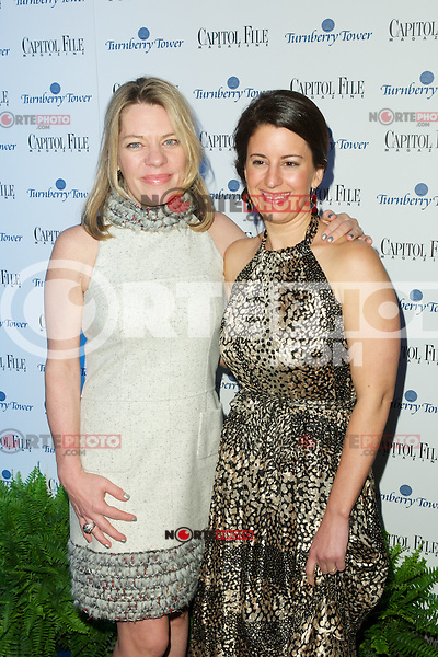 WASHINGTON, DC - APRIL 28:  Niche Media's President Katherine Nicholls and Capital File's President and Editor in Chief Sarah Schaffer  attends Capital File magazine's WHCAD After - Party hosted by Claire Danes at The Newseum in Washington, D.C  on April 28th, 2012  ( Photo by Chaz Niell/Media Punch Inc.)
