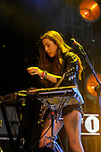 HAIM - performing live on the In New Music We Trust Stage at the BBC Radio 1 Big Weekend held in Ebrington Square Londonderry Northern Ireland UK - 26 May 2013.  Photo credit: George Chin/IconicPix