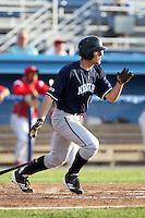 Newark Pilots, of the Perfect Game Collegiate Baseball League, third baseman Joe Landi #15 during an exhibition game against the Batavia Muckdogs at Dwyer Stadium on June 15, 2012 in Batavia, New York.  Batavia defeated Newark 8-0.  (Mike Janes/Four Seam Images)