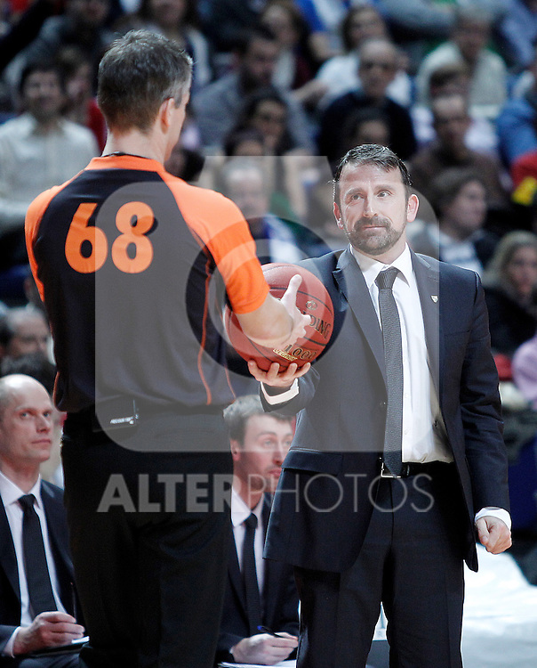 Zalgiris Kaunas' coach Joan Plaza during Euroleague 2012/2013 match.January 11,2013. (ALTERPHOTOS/Acero)
