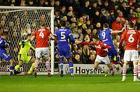 Barnsley v Leeds..EFL Championship 21.1.17 .... Leeds Chris wood gives his side the lead and celebrates
