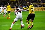 09.03.2019, Signal Iduna Park, Dortmund, GER, 1.FBL, Borussia Dortmund vs VfB Stuttgart, DFL REGULATIONS PROHIBIT ANY USE OF PHOTOGRAPHS AS IMAGE SEQUENCES AND/OR QUASI-VIDEO<br /> <br /> im Bild   picture shows:<br /> Nicolas Gonzalez (VfB Stuttgart #22) im Duell mit Manuel Akanji (Borussia Dortmund #16), <br /> <br /> Foto &copy; nordphoto / Rauch