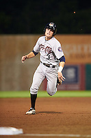 Tri-City ValleyCats third baseman Tyler Wolfe (3) running the bases during a game against the Auburn Doubledays on August 25, 2016 at Falcon Park in Auburn, New York.  Tri-City defeated Auburn 4-3.  (Mike Janes/Four Seam Images)