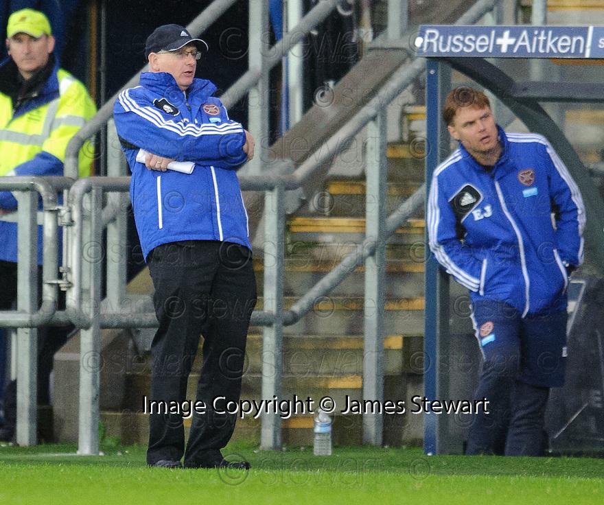 Heart's manager John McGlynn.