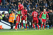 30th September 2017, The Hawthorns, West Bromwich, England; EPL Premier League football, West Bromwich Albion versus Watford; Watford players celebrate with the manager when they equalise in the last seconds of the game