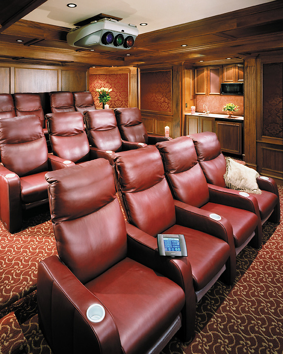 Home Theater With Snack Area