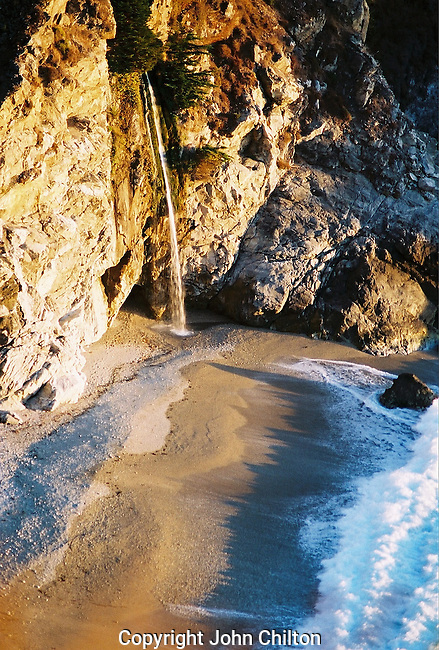 Photo of McWay Falls on Big Sur Coastline California