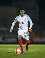 Cameron Humphreys (Manchester City) of England U19 during the International friendly match between England U19 and Bulgaria U19 at Adams Park, High Wycombe, England on 10 October 2016. Photo by Andy Rowland.