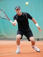 30-5-06,France, Paris, Tennis , Roland Garros, Melle van Gemerden in his first round match
