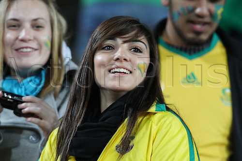 JUNE 28, 2010 - Football : 2010 FIFA World Cup South Africa Round of 16 between Brazil 3-0 Chile at Ellis Park Stadium, Johannesburg, South Africa. Brazil fans (BRA),  .