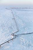 A gas condensate pipeline runs through the sub-Arctic permafrost in Russia's Yamal region.