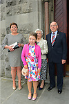 10/05/2015 – Saint Marys Communion – Erin Branigan with her Mum Jane and grandparents Brendan and Doreen Hand. Picture: www.newsfile.ie