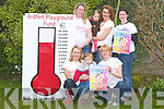 TERMONITOR: The Ardfert committee who were watching the termonitor on Thursday as it grows with donation for the Ardfert Playground. Barbara O'Grady,Oliva Murphy,Toirease Ni? Fhearai?osa,Angela Ryan and Orla Fiotzgerald(Committe members) and children Ethan and Anna Fitzgerald. .   Copyright Kerry's Eye 2008