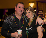 Tony Ramociotti and Rena Abrott during the Mardi Gras ball in the Reno Ballroom on Saturday, March 24, 2018.