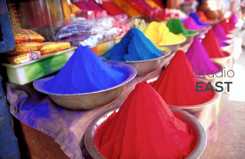 Color powders in Mysore, India