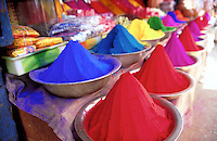 Color powders in Mysore, India