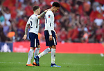 A dejected Dele Alli of Tottenham Hotspur and Kieran Trippier of Tottenham Hotspur at the end of the FA cup semi-final match at Wembley Stadium, London. Picture date 21st April, 2018. Picture credit should read: Robin Parker/Sportimage