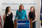 Garden City South, New York, U.S. - August 11, 2014 - L-R, ANDREA MILLER, President of NARAL Pro-Choice New York and JOANN SMITH, President of Planned Parenhood Nassau County Action Fund, are endorsing KATHLEEN RICE, Democratic candidate for Congress in New York's 4th Congressional District, at a joint press conference at the Rice Campaign Field Office. Rice is in her third term as Nassau County District Attorney, Long Island.
