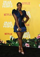 "01 August 2019 - Los Angeles, California - Ashley Blaine Featherson. Netflix's ""Dear White People"" Season 3 Los Angeles Premiere held at TRegal Cinemas LA Live. Photo Credit: Birdie Thompson/AdMedia"