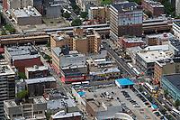 aerial photograph Park Avenue & Dr. Martin Luther King Jr Blvd (East 125th St), Harlem, Manhattan, New York City