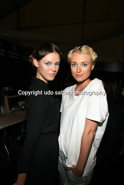 Models Backstage at Zang Toi Spring 2014 Fashion Show Held During Mercedes Benz Fashion Week NY