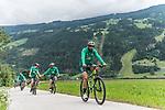 09.07.2019, Zell am Ziller, AUT, TL Werder Bremen Zell am Ziller / Zillertal Tag 05<br /> <br /> im Bild<br /> Claudio Pizarro (Werder Bremen #14) <br /> auf Mountainbike bei Radtour im Zillertal <br /> <br /> Foto © nordphoto / Ewert