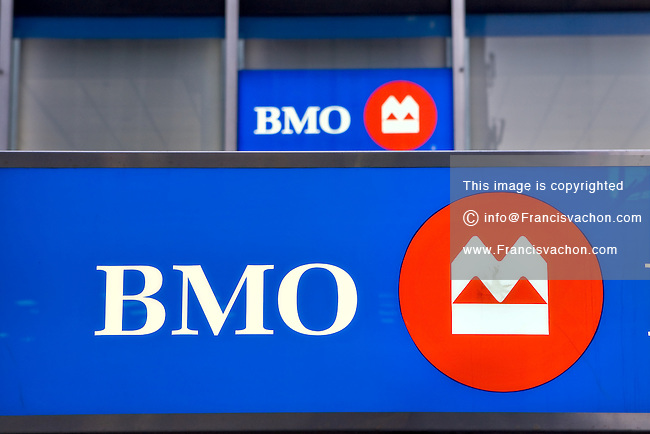 A Bank of Montreal logo is pictured on a building  in Montreal November 3, 2008.