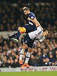 Tottenham's Erik Lamela tussles with Newcastle's Paul Dummett<br /> <br /> Barclays Premier League- Tottenham Hotspur vs Newcastle United - White Hart Lane - England - 13th December 2015 - Picture David Klein/Sportimage