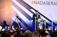 SAO PAULO, SP - 10.11.2016 - SAL&Atilde;O-AUTOM&Oacute;VEL - Cerim&ocirc;nia de abertura do Sal&atilde;o Internacional do Autom&oacute;vel em S&atilde;o Paulo no expo Imigrantes na regi&atilde;o sul da cidade de S&atilde;o Paulo  nesta quinta-feira,10. O evento contou com a presen&ccedil;a do presidente da Anfavea, Antonio Megale, de autoridades como Paulo Hartung, governador do Estado do Espirito Santos e do Ministro da Ind&uacute;stria, Com&eacute;rcio Exterior e Servi&ccedil;os, Marcos Pereira, do governador de S&atilde;o Paulo em exerc&iacute;cio, M&aacute;rcio Fran&ccedil;a entre outros convidados como o ex-governador do Estado de S&atilde;o Paulo, Paulo Maluf.<br /> (Foto: Fabricio Bomjardim / Brazil Photo Press)