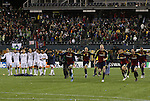 22 November 2009: Salt Lake players celebrate after the shootout. Real Salt Lake defeated the Los Angeles Galaxy 5-4 on penalty kicks after the teams played to a 1-1 overtime tie at Qwest Field in Seattle, Washington in MLS Cup 2009, Major League Soccer's championship game.