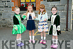 l-r  Caoimhe Lenihan, Page Murphy , Aoife Dennehy and Aoife Lenihan at the 55th Féile Cheoil Step dancing competitions at the Ceolann building Lixnaw on Saturday