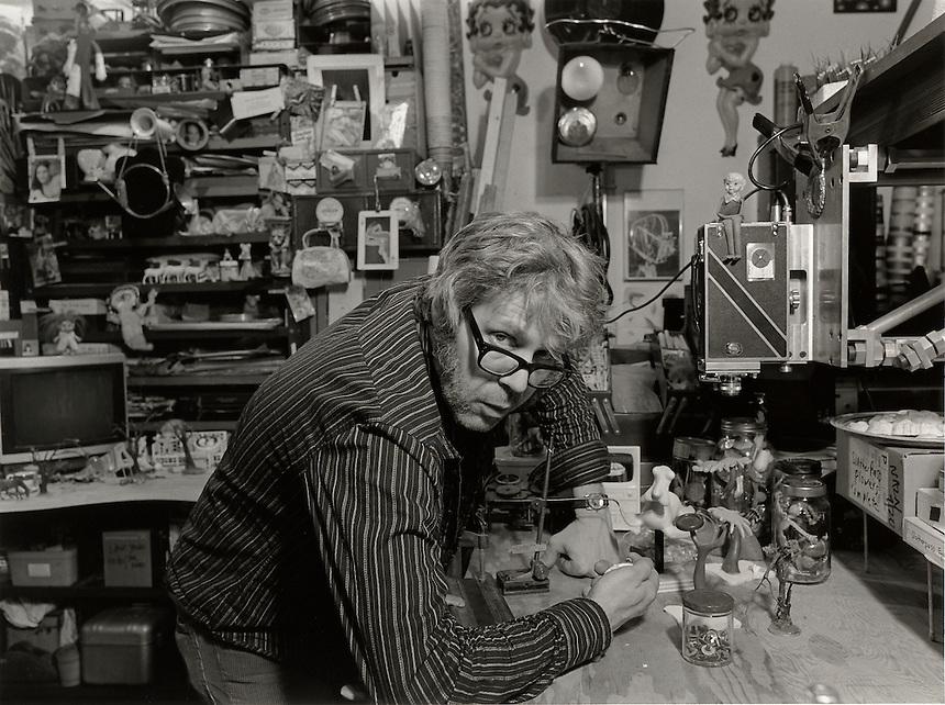 M. Henry Jones, 2007.  Animation artist, curator of films of Harry Smith.