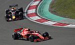 15.04.2018, Shanghai Audi International Circuit, Shanghai, 2018 FORMULA 1 HEINEKEN CHINESE GRAND PRIX, 12.04. - 15.04.2018<br /> im Bild<br />Kimi Raikkonen (FIN#7), Scuderia Ferrari, Daniel Ricciardo (AUS#3), Aston Martin Red Bull Racing<br /> <br /><br /> <br /> Foto &copy; nordphoto / Bratic