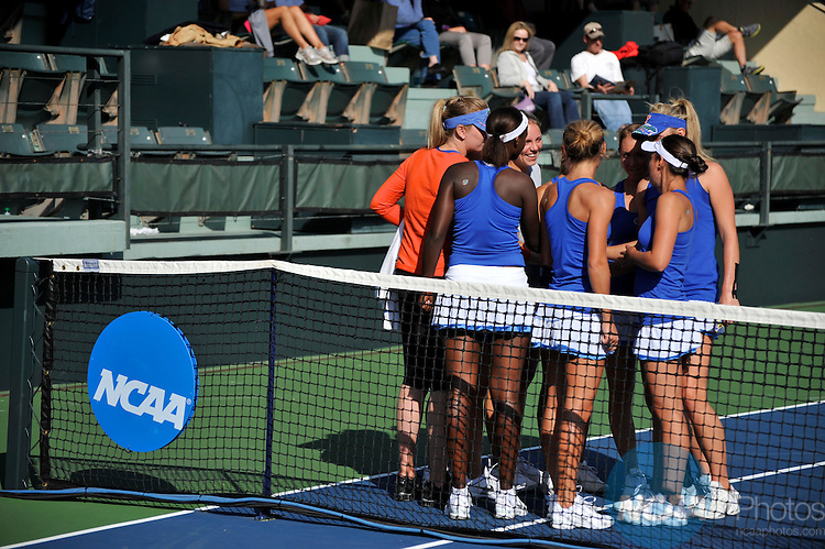 24 MAY 2011: The University of Florida plays Stanford University during the Division I Women's Tennis Championship held at the Taube Family Tennis Center on the Stanford University  campus in Stanford, CA. Brett Wilhelm/NCAA Photos