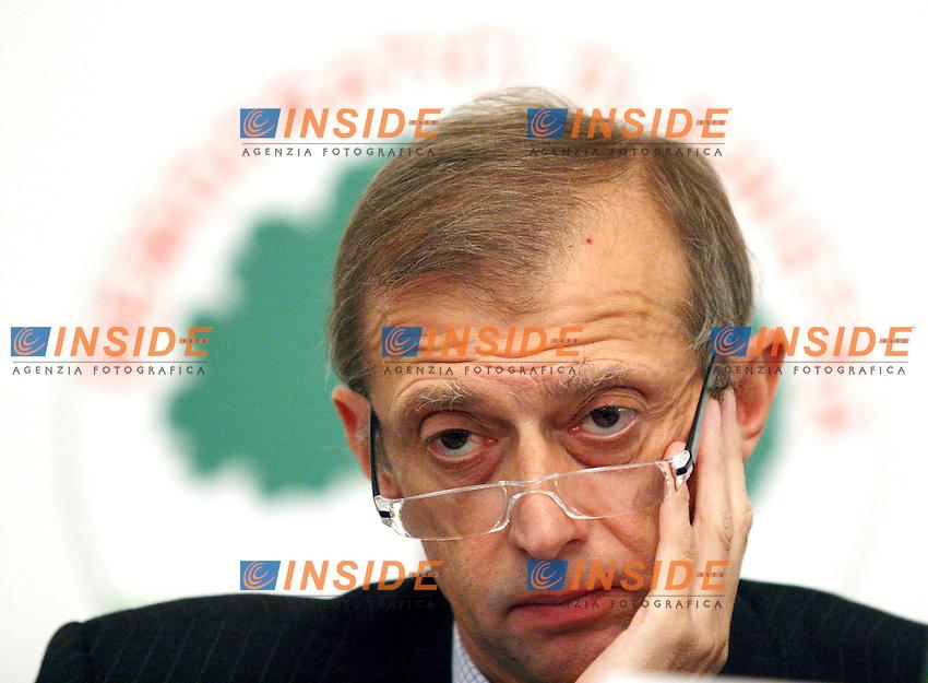 Roma 11/01/2006 Direzione Nazionale dei DS<br />Nella foto il segretario dei DS Piero Fassino<br />Photo Serena Cremaschi Insidefoto