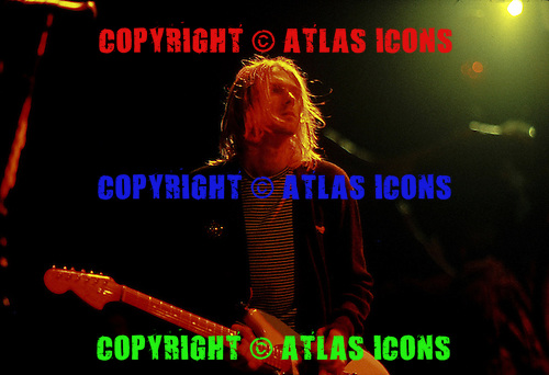 Kurt Cobain :Nirvana:  New York Coliseum: New York City:.November 14, 1993:.Photo Credit: Eddie Malluk/AtlasIcons.com
