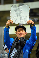 A fan shows off his placard after the Rugby Championship match between the NZ All Blacks and Argentina Pumas at Yarrow Stadium in New Plymouth, New Zealand on Saturday, 9 September 2017. Photo: Dave Lintott / lintottphoto.co.nz