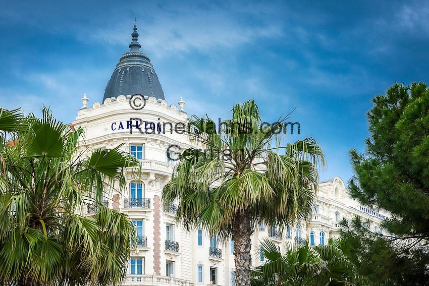 France, Provence-Alpes-Côte d'Azur, Cannes: 5-Stars luxury hotel InterContinental Carlton Cannes on Boulevard de la Croisette | Frankreich, Provence-Alpes-Côte d'Azur, Cannes: das 5-Sterne Luxushotel InterContinental Carlton Cannes auf dem Boulevard de la Croisette
