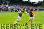 Cut Inside<br /> -------------<br /> Thomas Hickey about to get inside Wexfords Aaron Maddock to score a point for kerry when the sides met in Dungarvan last Saturday